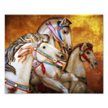 Carousel Horses art print Photo