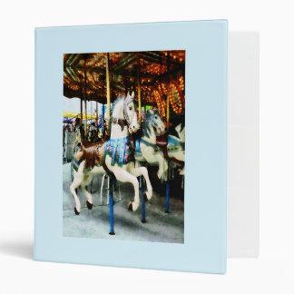 Carousel Horses 3 Ring Binder