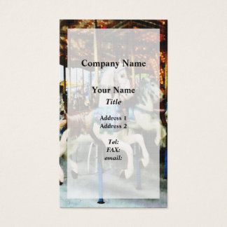 Carousel Horses Business Card