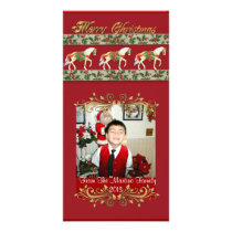 Carousel Horses Christmas photo card