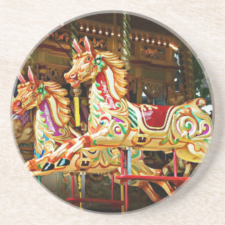 Carousel Horses Drink Coasters