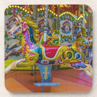 Carousel horses hard plastic coasters