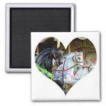 Carousel Horses Heart Magnet