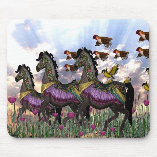 Carousel horses mousepads