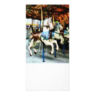 Carousel Horses Photo Card