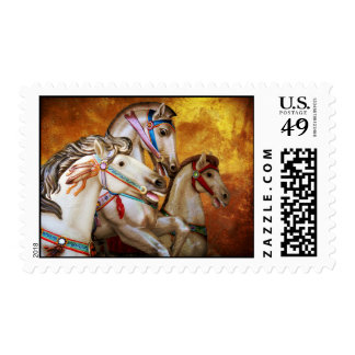 Carousel Horses postage stamp