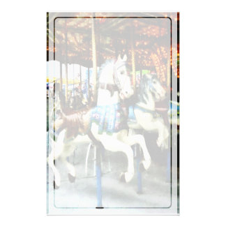 Carousel Horses Stationery Paper
