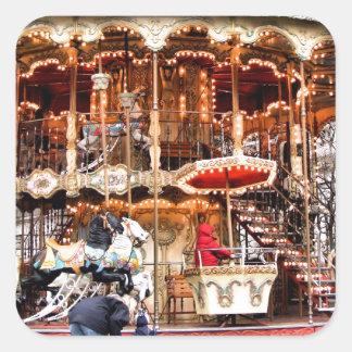 Carousel in Montmartre Square Sticker