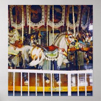 Carousel in Oil poster