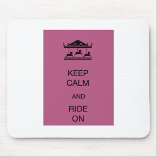 Carousel Keep Calm Mouse Pads