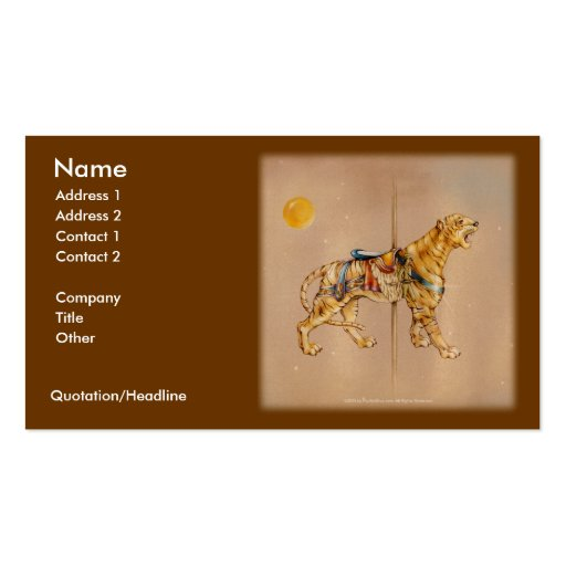 Carousel Lion Business Card