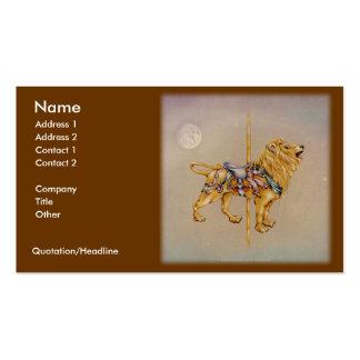 Carousel Lion Business Card