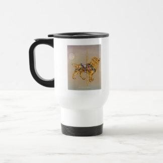 Carousel Lion Travel Cup 15 Oz Stainless Steel Travel Mug