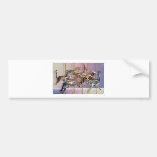Carousel Menagerie.jpg Bumper Sticker