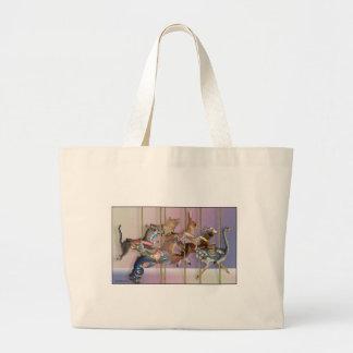 Carousel Menagerie.jpg Large Tote Bag