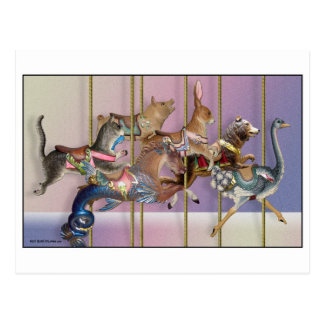 Carousel Menagerie.jpg Postcard