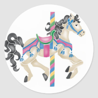 Carousel/ Merry Go Round for kids! Classic Round Sticker