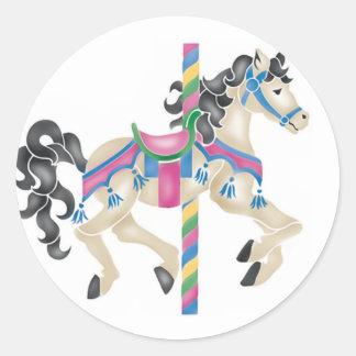 Carousel/ Merry Go Round for kids! Round Sticker