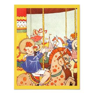 Carousel Merry-Go-Round Party Birthday INVITATIONS