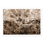 Carousel, Mini Photo (White Bordered) Business Card