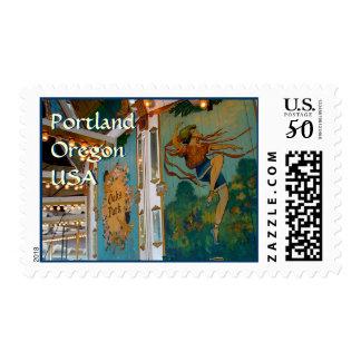 Carousel ~ Oaks Park Postage