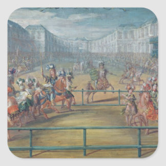 Carousel of Amazons in 1682 Square Sticker