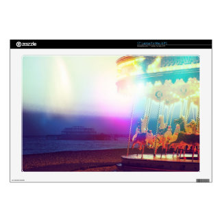 "Carousel On The Beach 17"" Laptop Decals"