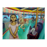 Carousel - Original Painting by Lora Shelley Postcards