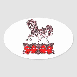 Carousel Oval Sticker