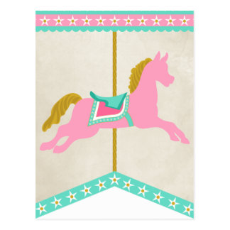 Carousel Pennant Banner Spacer Postcard