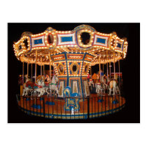 Carousel photography printed on post card