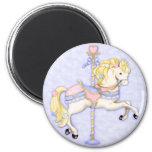 Carousel Pony 2 Inch Round Magnet
