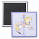 Carousel Pony 2 Inch Square Magnet