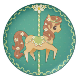 Carousel Pony – Daisy Flower Party Plate