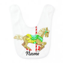 Carousel Pony, Personalized Bib