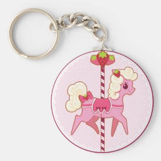 Carousel Pony – Strawberries and Cream Keychain