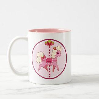 Carousel Pony – Strawberries and Cream Two-Tone Coffee Mug