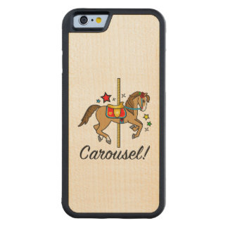 Carousel Pony with Stars Carved Maple iPhone 6 Bumper Case