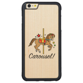 Carousel Pony with Stars Carved Maple iPhone 6 Plus Bumper Case
