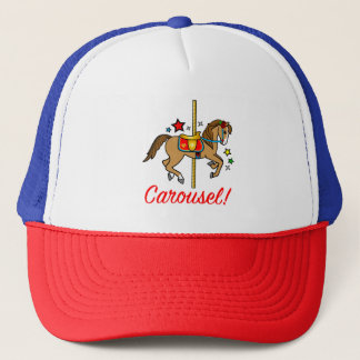 Carousel Pony with Stars Trucker Hat