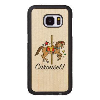 Carousel Pony with Stars Wood Samsung Galaxy S7 Case