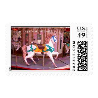 Carousel Postage Stamp