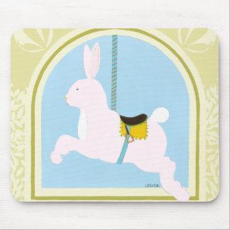 Carousel Rabbit by June Erica Vess Mousepads