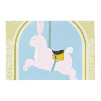Carousel Rabbit by June Erica Vess Placemat