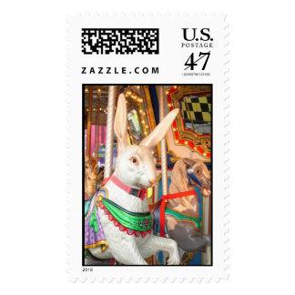 Carousel Rabbit Postage