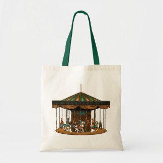 Carousel Ride Budget Tote Bag