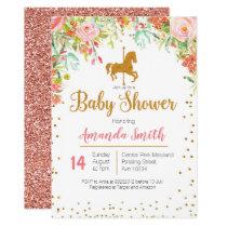 Carousel Rose Gold Baby Shower invitation