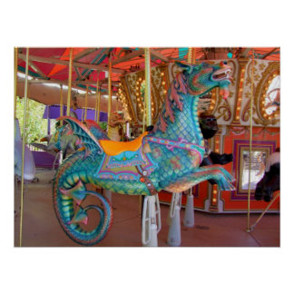 Carousel Sea Serpent Poster