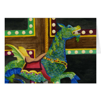 Carousel Seahorse Card