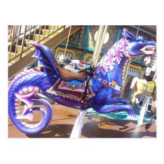 Carousel Seahorse Postcard